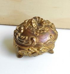 Victorian Art Nouveau Jewelry Box, Vintage Jewelry Box, Vintage Home Decor