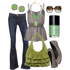 the grass is always greener, created by #htotheb on #polyvore. #fashion #style Frankie B. #Gucci