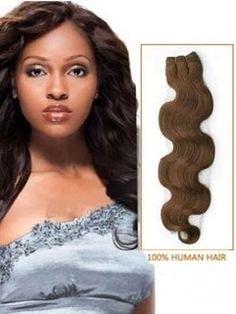 Light+Brown+Body+Wave+100%+Human++Hair+Wefts+100g