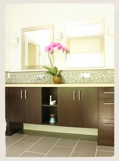 find this pin and more on bath - Bathroom Vanity Backsplash Ideas
