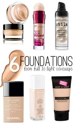 6 of the Best Foundations with light to full coverage! They work for pale gals!