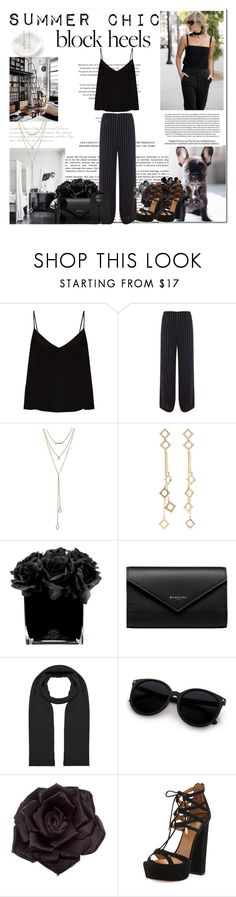 """Summer Chic"" by krystalkm-7 ❤ liked on Polyvore featuring Loewe, Raey, Miss Selfridge, SUGARFIX by BaubleBar, Arme De L'Amour, Hervé Gambs, Balenciaga, Peter Rutz, Johnny Loves Rosie and Aquazzura"