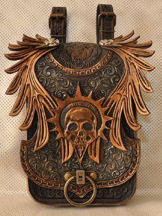 """Leather belt bag """"Warlock bag"""""""