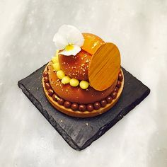Chocolate passion fruit tart @stregisbalharbour #bachour   by Pastry Chef Antonio Bachour