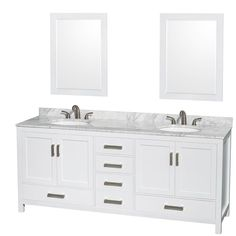 Distinctive styling and elegant lines come together to form a complete range of modern classics in the Sheffield Bathroom Vanity collection.