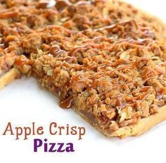 Apple Crisp Pizza on Pampered Chef Stoneware Fruit Recipes, Apple Recipes, Fall Recipes, Sweet Recipes, Dessert Recipes, Cooking Recipes, Yummy Recipes, Cooking Tips, Skinny Recipes