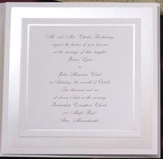 Bright White Wedding Invitation