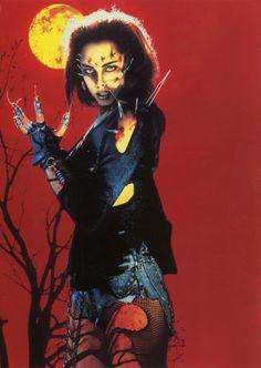 Melinda Clarke as Julie Walker in Return of the Living Dead III.