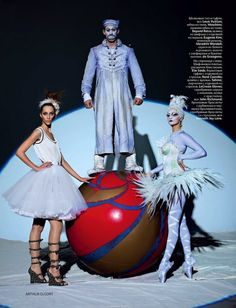 A Disturbing Clown Editorial: Alana Zimmer & Crystal Renn by Arthur Elgort for Russian (obviously) Vogue