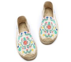 Soludos Embroidered Espadrilles flats