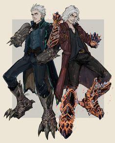 Epic Characters, Fantasy Characters, Crying Tumblr, Nero Dmc, Bioshock Art, Vergil Dmc, Character Art, Character Design, Dante Devil May Cry