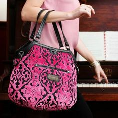 The most luscious and over the top diaper bag from the exclusive CAKE collection! Perfect for the mom that is dreaming of chic diaper bag!