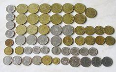 57 Vintage Greek coins 1950s to 1990s Coins Copper silver aluminium 100, 50, 20, 10, 5, 2 Drachmas Numismatics from Greece by TheIrishBarn on Etsy