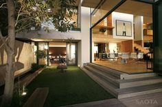 subtly different levels | Victoria 73 House by SAOTA and Antoni Associates