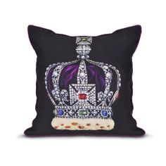 This beautiful cushion has been inspired by the Imperial State Crown, one of the Crown Jewels held at the Tower of London. Available online at www.historicroyalpalaces.com