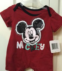 Baby Boys Swim Trunks MICKEY MOUSE MAKING FACES Red Yelw 0-3 3-6 6-9 12 18 24 MO