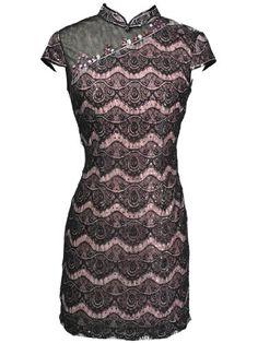 2131cf4df Topwedding Short Sleeve Beaded Mini Chinese Dress with Sequins Cheongsam  Dress, Asian Fashion, Chinese