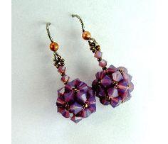 Crystal Cornerless Cube Earrings