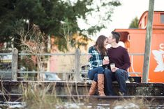Cozy Canadian Winter Engagement Photo Shoot