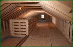 Attic Storage Ideas | ... Home featuring a 7/12 roof pitch with massive attic storage space