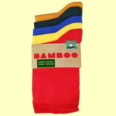 Socks|5 Pack|100% Bamboo|Plain|One Sized|Breathable|Bassin and Brown – Bassin And Brown Yellow Sea, Blue Green, Multi Coloured Socks, Brown Socks, Bamboo Socks, Cotton Socks, Stylish Men, Mustard, Color