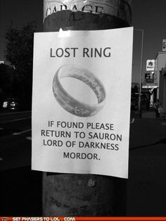 PLEASE DON'T was my first reaction... Lord of the Rings NERD!<(this comment) :D