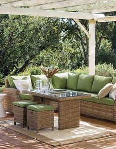10 Ideas para crea tu paraíso particular Outdoor Sectional, Sectional Sofa, Ideas Terraza, Outdoor Furniture Sets, Outdoor Decor, Decoration, Ideas Para, Gazebo, Home Decor