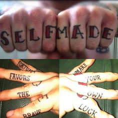 love this hand/knuckle tattoo!