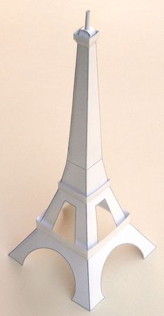 eiffel tower model template - so easy a kid can make this with a pair of scissors the