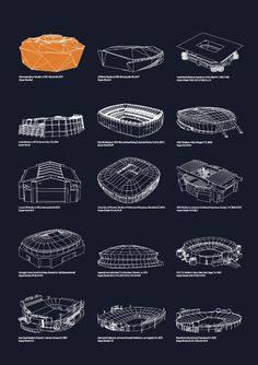 For the American football final, an ephemeral city works its way into the urban fabric, offering its inhabitants a unique opportunity. From Domus Architecture Drawings, Architecture Old, Architect Jobs, City Works, Urban Fabric, Football Final, Atlanta, Infographics