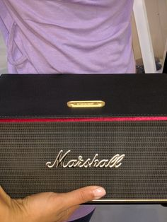 """ The sound that rocks"" Marshall Speaker, Bluetooth, Rocks, Blue Tooth, Stone, Stones"