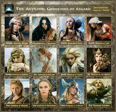 Nordic mythology: goddesses of Asgard Norse Goddess, Norse Pagan, Wiccan, World Mythology, Celtic Mythology, Mythological Creatures, Mythical Creatures, Religion, Thor