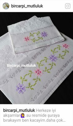 Janome, Elsa, Diy And Crafts, Cross Stitch, Embroidery, Salons, Towel, Handmade, Videos