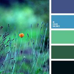 azul celeste, azul claro fuerte, azul oscuro y celeste, celeste vivo, color celeste, color esmeralda, combinación de colores, elección del color, matices de color esmeralda, matices del azul oscuro, tonos verdes, verde claro, verde oscuro.