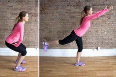 The Brazilian Butt Lift Workout   Squat Arabesque