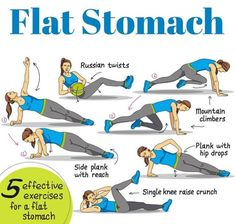Just Like Katrina: Amazing Exercises & Diet Tips To Get Rock Solid Abs Workout For Flat Stomach, Belly Fat Workout, Flat Stomach Yoga, Stomach Workouts, Flat Tummy, Fitness Workout For Women, Fitness Tips, Health Fitness, Health Diet