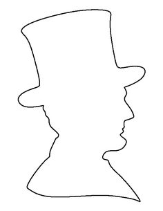 lincoln abraham silhouette worksheets printable coloring pages outline crafts preschool presidents craft seniors pattern discover activities read