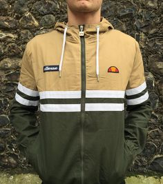 The 'Gargano' two tone cotton hooded windbreaker from Ellesse is available in store now - 60.  #ellesse #heritage #newstock #spring #summer #ss17 #mensstyle #mensfashion #menswear #philipbrownemenswear