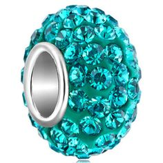 Birthstone Charms Jewelry 925 Sterling Silver Blue Crystal Charm Bead Fit Bead Pugster.com