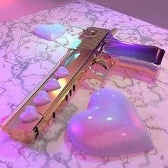 cute guns for women Purple Aesthetic, Bad Girl Aesthetic, Knife Aesthetic, Rauch Fotografie, Fille Gangsta, Pretty Knives, Pastel Punk, Armas Ninja, Ninja Weapons