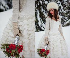 Krótka suknia ślubna, Short wedding dress, Christmas Wedding Ideas 2013 | Eventi e Wedding P. - The Wedding Blog