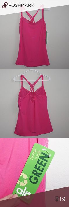 """ALO Yoga Tank Top ALO Sport Tank Top Color: Pink  Size: Extra Large  Condition: NWT  Measurements: Length 28"""" Features: Built-in Bra ALO Yoga Tops Tank Tops"""
