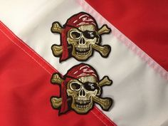 Patch moraLE PIRATE SKULL  FUN FLAG gift CHRISTMAS FUN NOVELTY you get 2 #718 #Patchesinternational