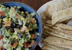 Avocado, Black Bean, and Vegetable Dip