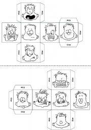 English worksheet: Feelings Mood Emotions Dice ( 24 pic)