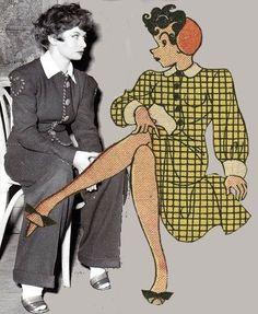 gladys parker and her long running creation mopey.Born/Norh Tonawanda