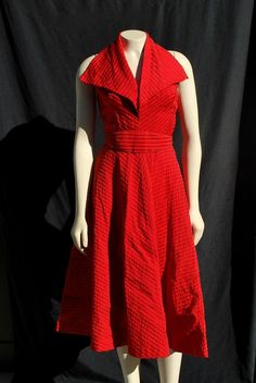 Vintage dress 50's halter new look dress sM marylin glam by thekaliman on Etsy, $200.00