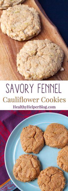 Savory Fennel Cauliflower Cookies • Healthy Helper