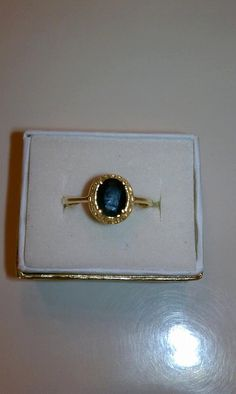 Vintage Rich Blue Sapphire 10k Ring by TimelessandForever on Etsy, $250.00
