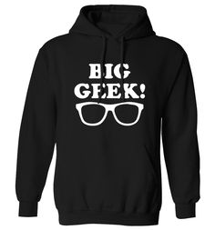 New to FloxCreative on Etsy: Big geek Hoodie joke funny cute gift matching items nerd glasses father's day sci fi daddy Hoody XS - 5XL 29 (22.95 GBP)